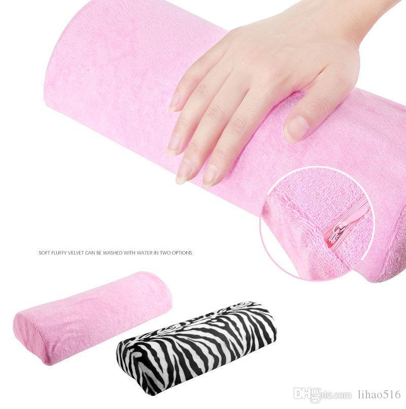 ومن ناحية الراحة وسادة وسادة فن الأظافر مانيكير ماكياج مستحضرات التجميل قابل للغسل لينة صالون تجميل اليد الصغيرة الراحة وسادة وسادة الوردي مانيكير حامل