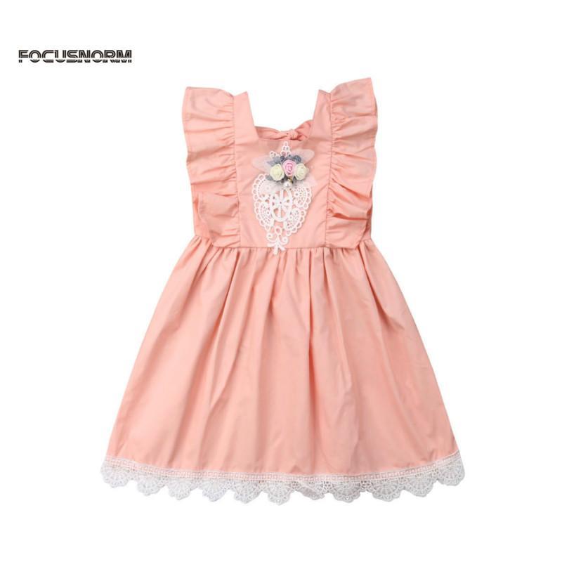 2019 Весна новое лето малыш Baby Girls Party Dress хлопок сарафан одежда возраст 2-7 лет прекрасный Baby Girl Dress
