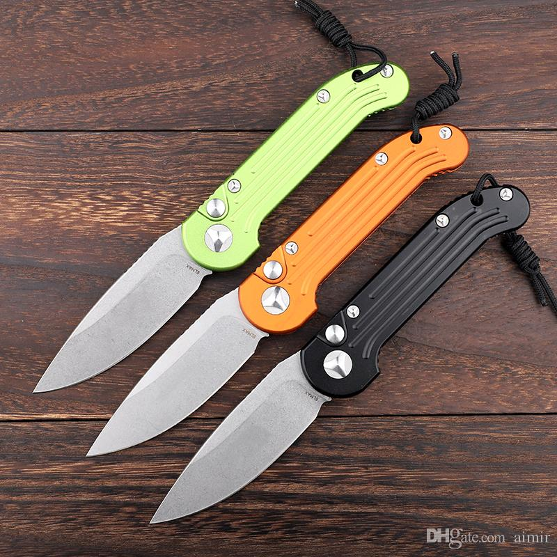 New LUDT Tricolor mirotech Cross Open Hunting Folding Knife New Year Gift Men's Gift 1 Freeshipping