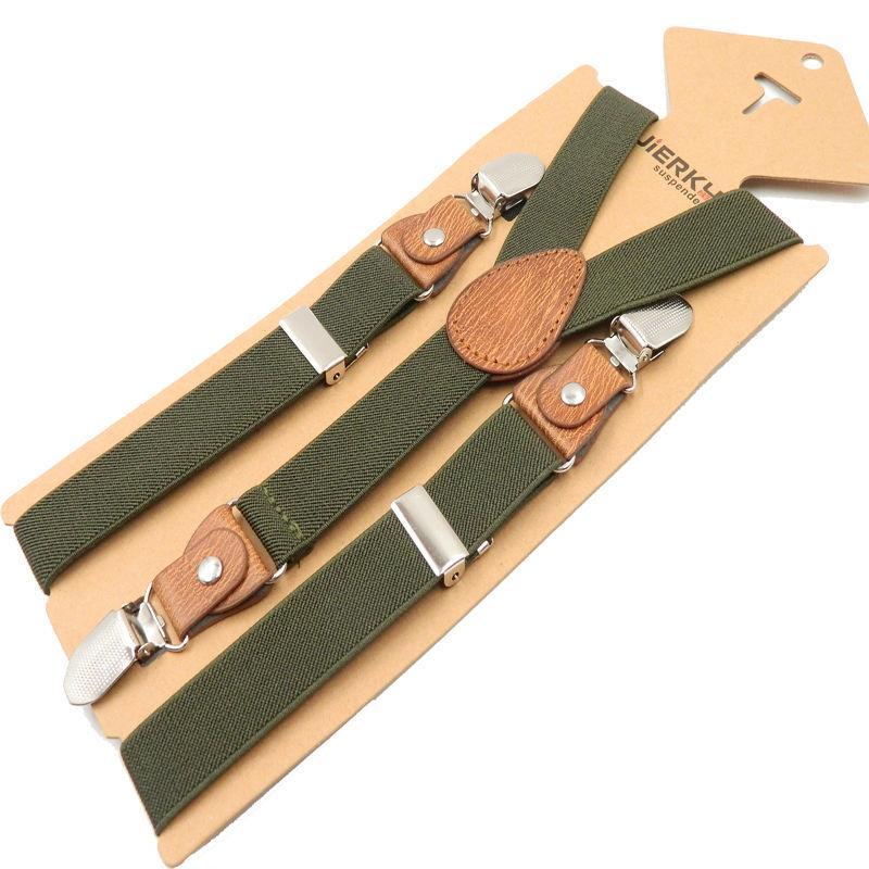 Mode Bébé Enfants Suspenders Braces Fort 3Clips Boy Pantalon Suspensorio élastique bretelles Taille du bracelet 2,5 * 65cm 18 couleurs