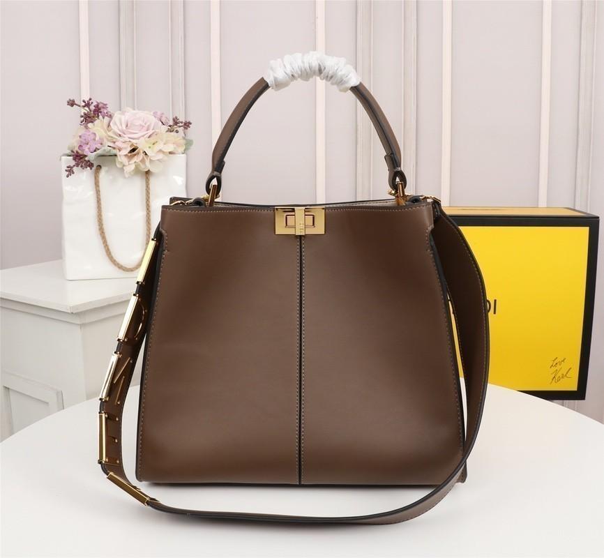 Женская дизайнерская сумка через плечо. Подкладка. Двойная буква F из жаккарда. Простая женская сумка через плечо. Размер 30 * 25 * 13.