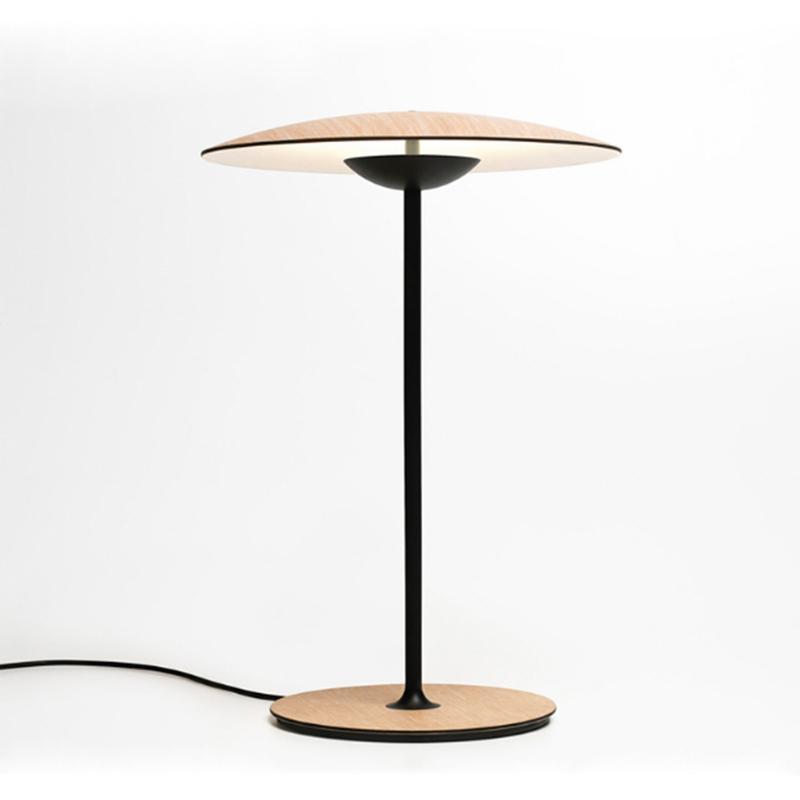 المبدع الخشب المعادن الحبوب تصميم سطح المكتب مصباح LED الديكور الحديثة لغرفة النوم إضاءة الطلاء الأسود الحار الجدول الضوء الأبيض