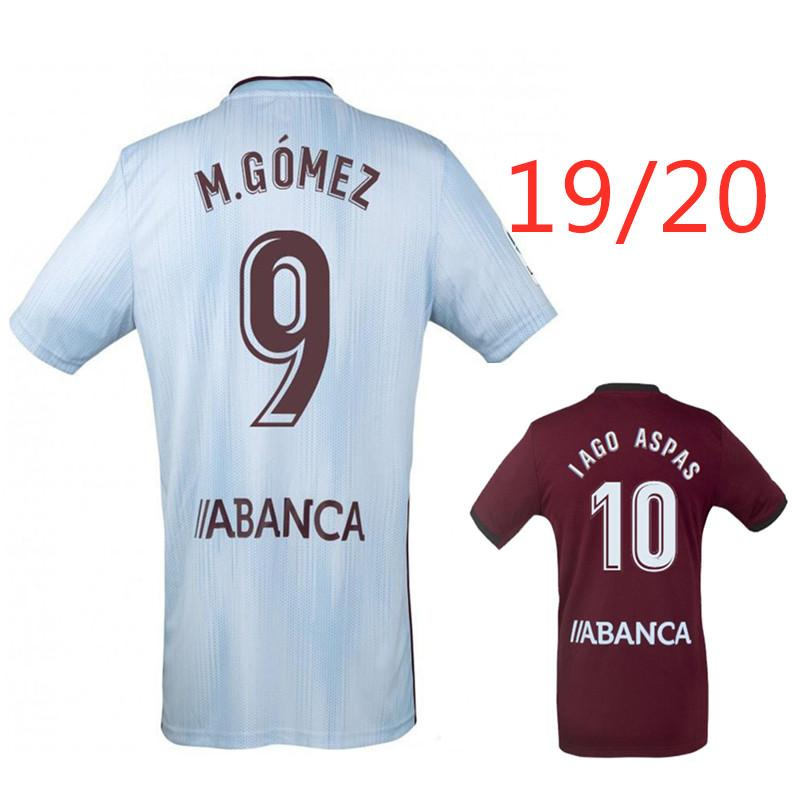 LOBOTKA IAGO ASPAS celta SANTL MINA futbol forması de 2019 2020 SISTO BOVFAL evden uzakta üst tay kalite A + + + futbol gömlek