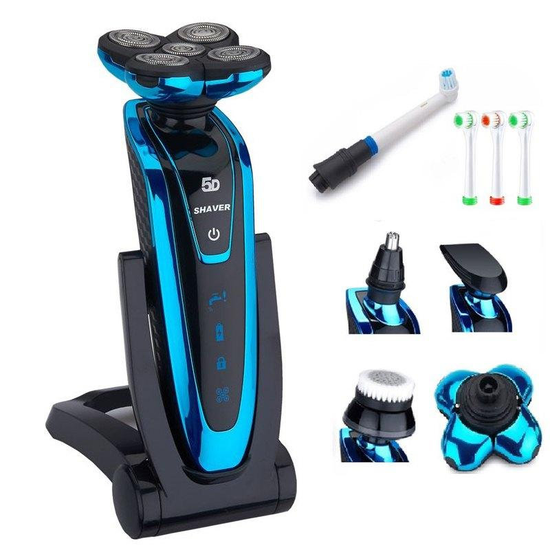Men's 5D Shaver grooming kit washable Electric Shaver Rechipable Electric Raver For Men face birthing machine 220-240v