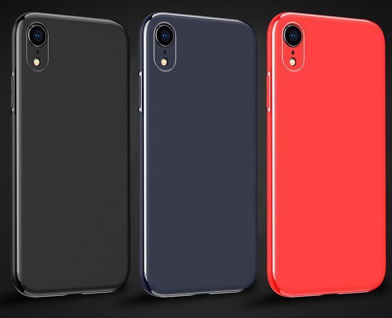 Чистый цвет ТПУ телефон Защитный чехол Shell для iPhone 11 Pro Max XR XS MAX 8 7 6 Plus