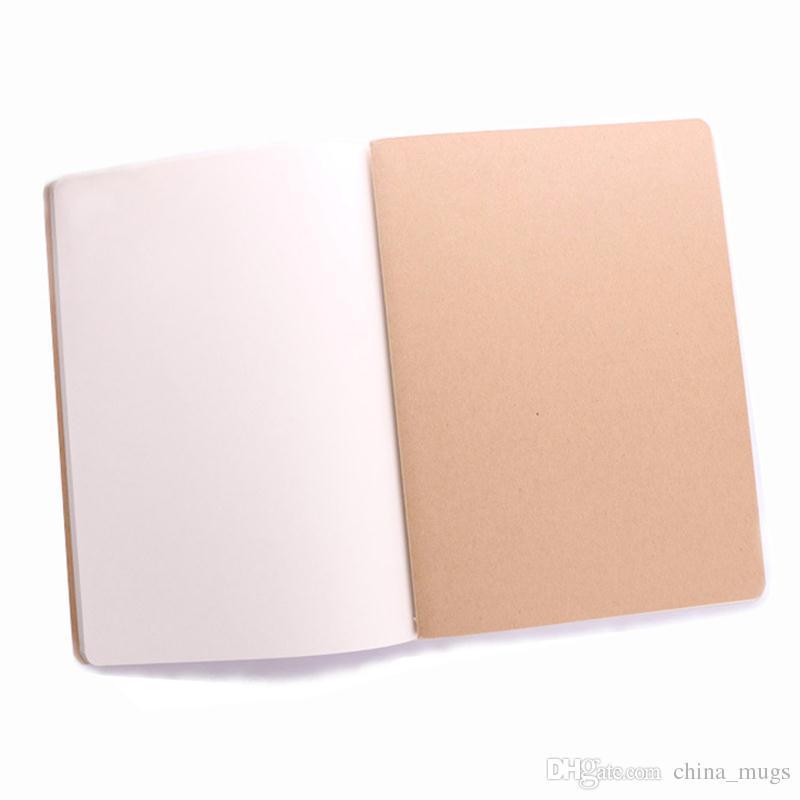 جديد ورقة دفتر السفر مذكرات القرطاسية فارغة الجلود كتاب المفكرة الدفتر خمر لينة وسادة مذكرة ورقة اليومية للطلاب