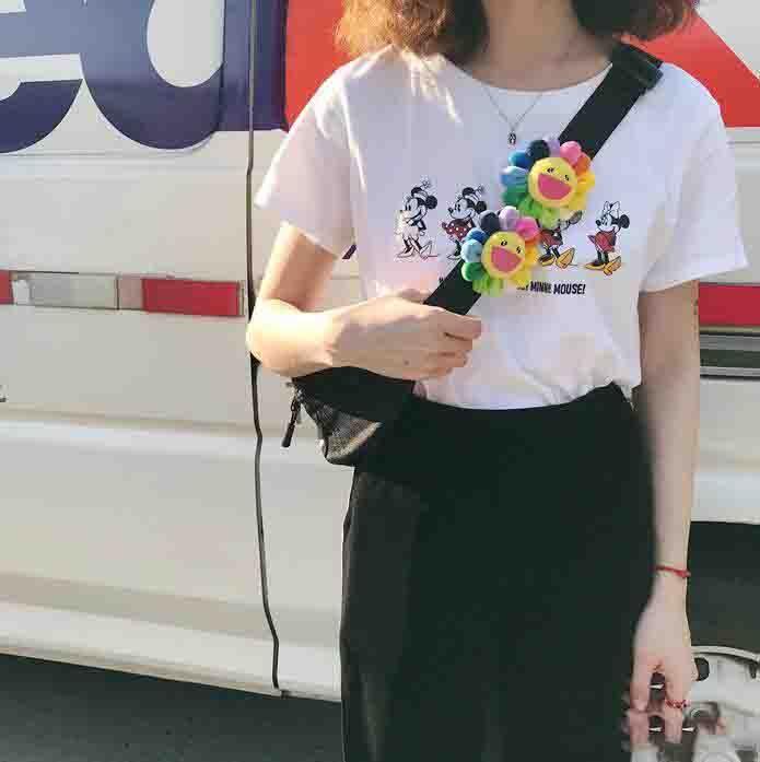 새로운 해바라기 타카시 무라카미 키키 Kaikai 브로치 무지개 핀 배지 스트랩 봉제 인형 펜던트 귀여운 무료 배송 공장