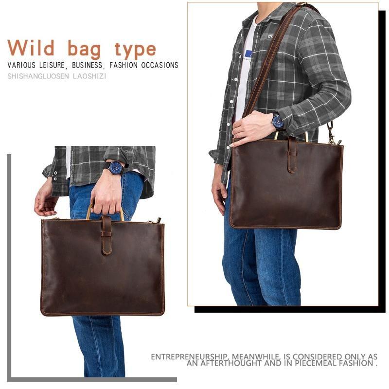 Мужские сумочки мягкие винтажные кожаные подлинные Crossbody путешествия ноутбук сумки мода посыльный сумка большой бизнес портфель PFGPT