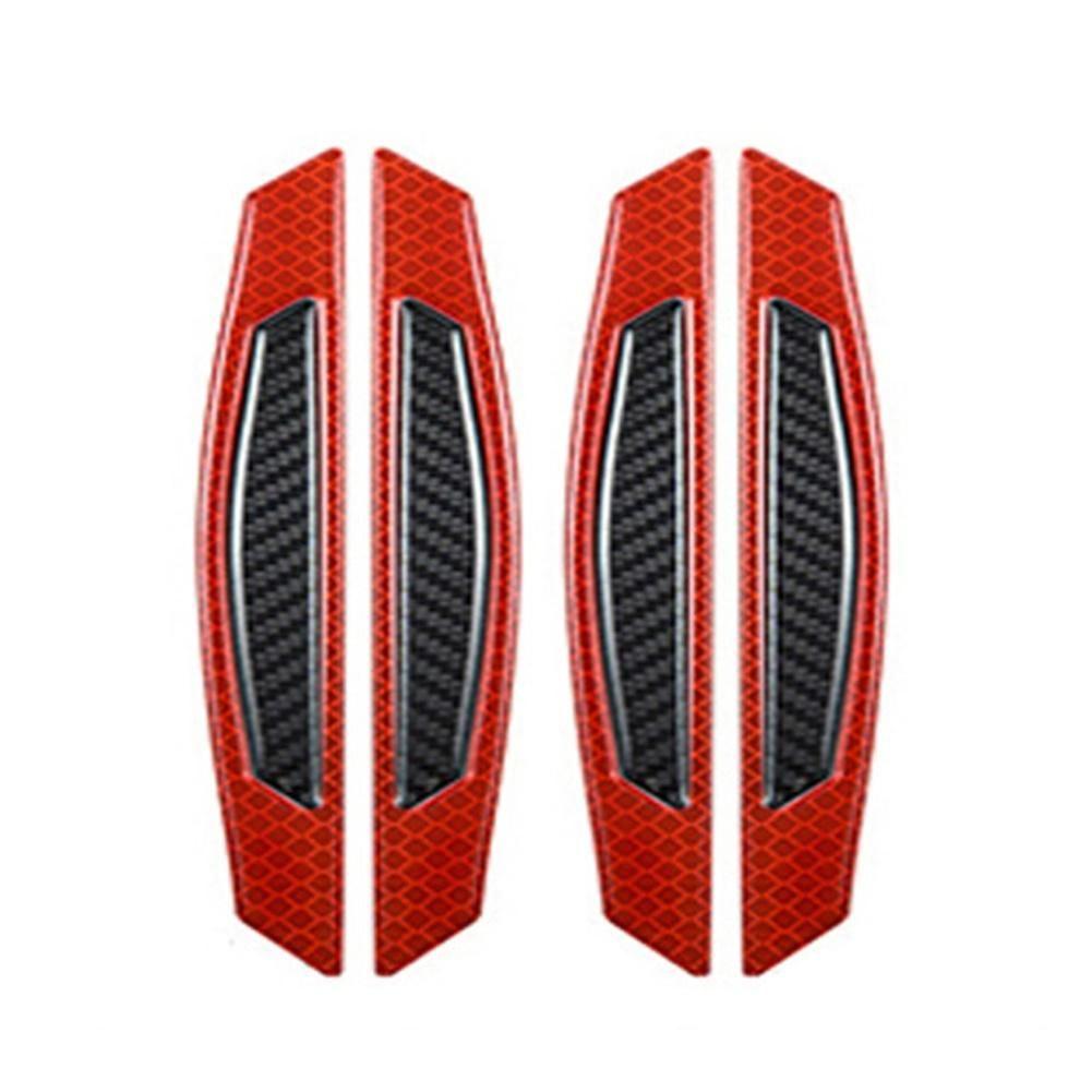 2 / 4PCS الكربون باب الألياف لاصق عاكس عجلات سيارة الحاجب الوفير حامي السيارة الخارجي اكسسوارات بوتيك 2019 ساخنة جديدة