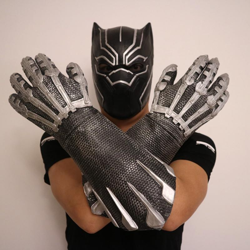 [New] Cosplay Avengers Marvel Heroes Black Panther Gloves latex Action Figure Toy model costume party kids child best gift toys