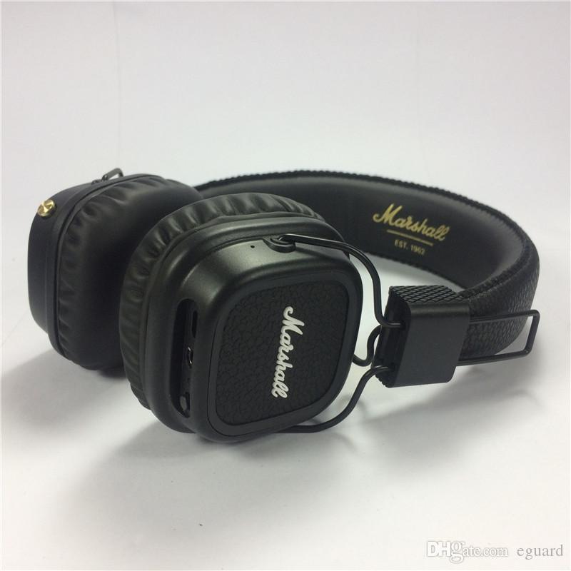 Marshall Major II Cuffie wireless con microfono DJ Major II Deep Bass Bluetooth Cuffie DJ Cuffie con scatola al minuto