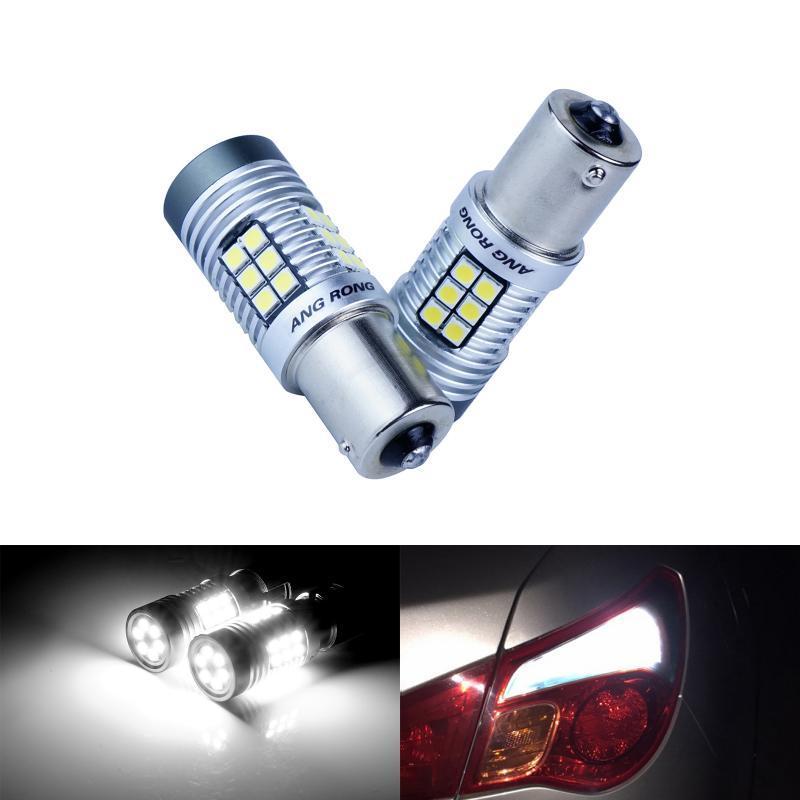SMD LED Ba15s P21W R10W 382 1156 Xenon White Sidelights Reverse Light Bulbs 12V