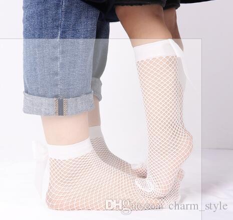 Girl Kid Children White Black Below knees Calf High Dress Bow long Socks 5-12Yrs