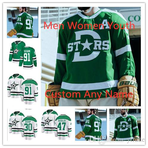 Costumbre 2020 Winter Classic de hockey sobre hielo de los jerseys Hombres Mujeres Jóvenes 91 Tyler Seguin 14 Jamie Benn 47 Alexander Radulov 3 Juan Klingberg jerseys
