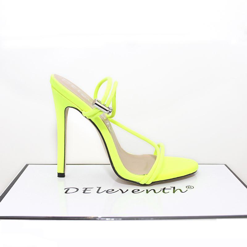 Scarpe della pompa della piattaforma 2019 donne di modo Peep Toe tacco alto scarpe da donna del partito scarpe da sposa alti talloni yellowcolor