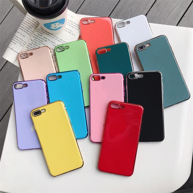 Suitable for Apple 8 8PLUS X XS XSMAX 11PRO 11PRO MAX mobile phone shell solid color plating high quality designer protective shell