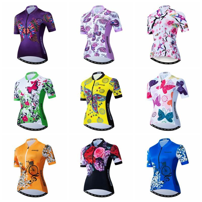 Weimostar Cycling Jersey Women Short Sleeve MTB Bike Jersey Shirt Quick Dry Bicycle Clothes Team Cycling Wear