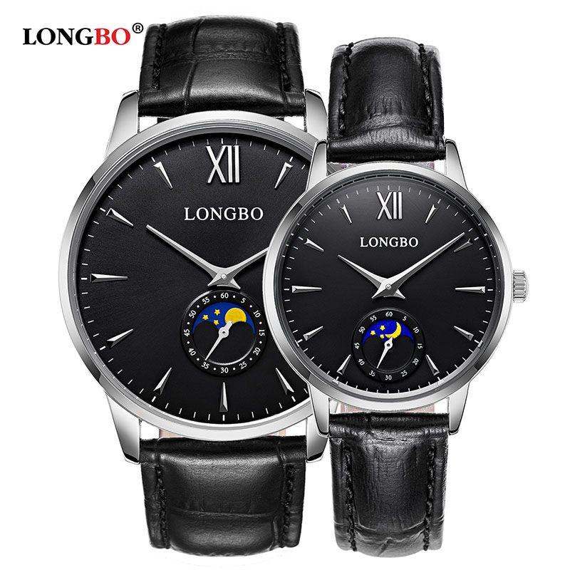 2020 LONGBO Marke Luxus-Kurz Design-Analoguhren Paar Männer Frauen wasserdichte Uhr montres de Designer gießen hommes 5008