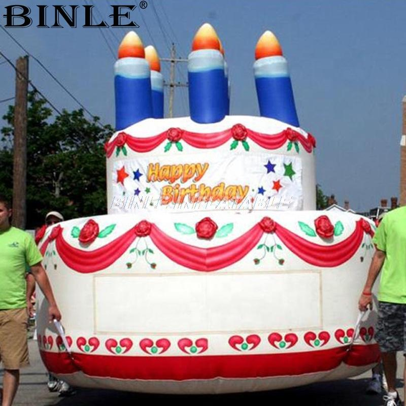Terrific 2020 Advertising Giant Inflatable Cake Hot Celebration Inflatable Birthday Cards Printable Inklcafe Filternl