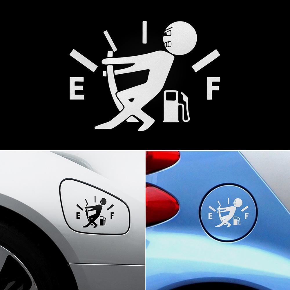 10 سنتيمتر * 14 سنتيمتر مضحك ملصقات السيارات ارتفاع استهلاك الغاز شارات الوقود غيج ملصقات فارغة ملصقات الفينيل jdm سيارة سيارة التصميم