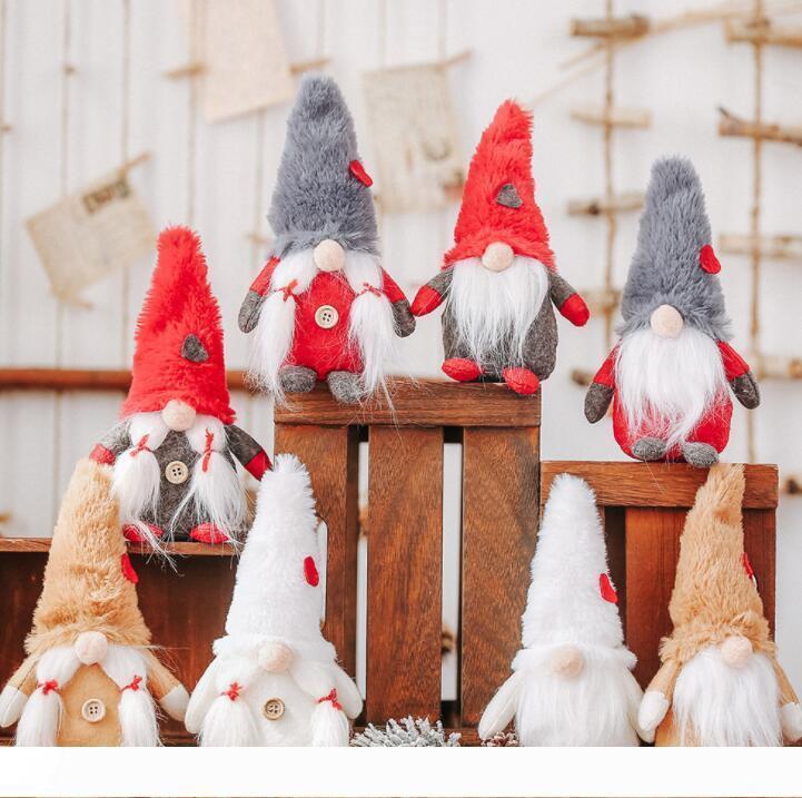 Noel İsveçli Gnome Peluş Oyuncak Orman Man Faceless Doll İskandinav Gnome Nordic Tomte Cüce Noel Dekorasyon Süsleme Oyuncak GGA2824