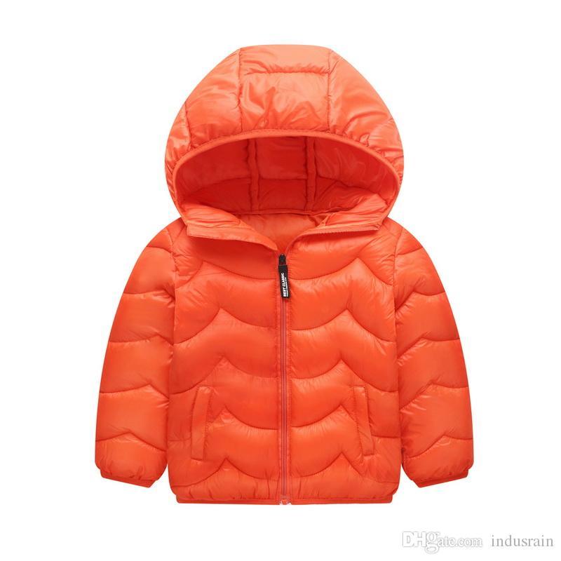 Новое прибытие детей осень зима Outwear Infant Твердая Inner Liner Детские пальто Теплые Одежда Мальчики ватник