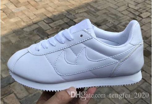 Hot neue Marken-beiläufige Schuh-Männer und Frauen cortez Schuhe PU-Leder Art und Weise im Freien Turnschuhe Größe 36-45, FF01