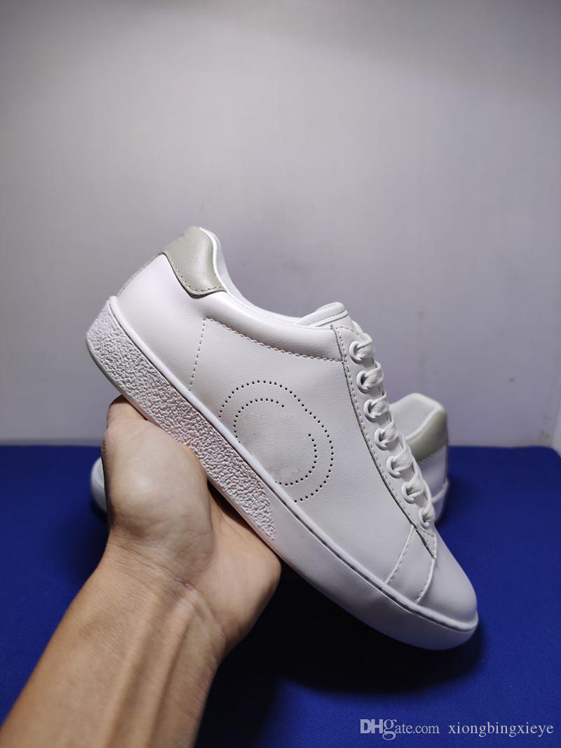 2020 nouveaux sports coutures en cuir pour hommes bon marché et chaussures pour femmes luxe perforé marque ace chaussures blanches