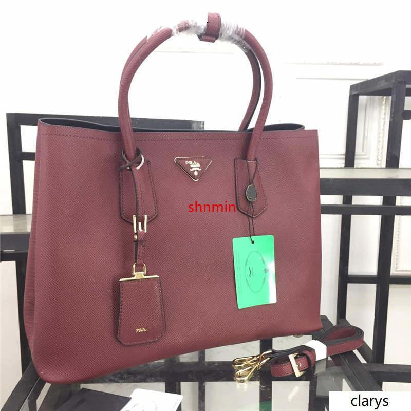 2020 مزدوجة حقيبة 2WAY حقيبة يد حمل BN2755 BN2756 عنابي الكتف حقيبة حمل حقيبة يد جلدية