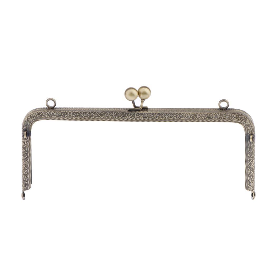 Anticato ottone della struttura della borsa del sacchetto del metallo Bacio Chiusura di blocco Squared design 7.87 pollici