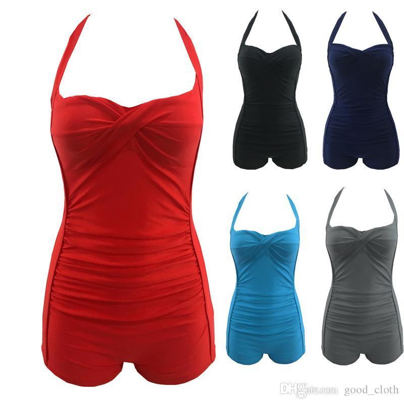 المرأة مثير قطعة واحدة الرسن Monokini مبطن البرازيلي الملاكم رفع ملابس السباحة الصلبة وبحر زائد حجم CNY1274
