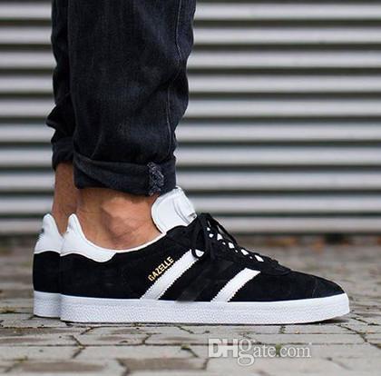 Açık kamp Erkekler Erkekler Rasgele Süet Deri Gazelle Beyaz Pembe Siyah PEMBE MAVİ Hafif Klasik Ayakkabı zapatos Atletik