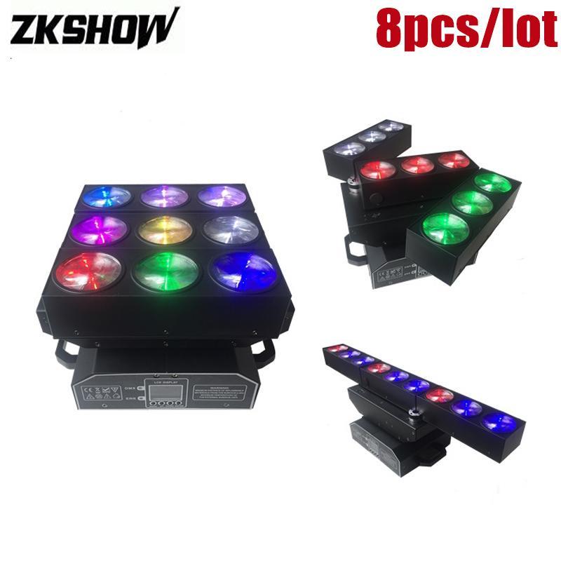 80% Off 9 * 15W RGBW feixe Wash LED Movendo Wedding Stage Lighting Luz principal Licht 100W DMX512 DJ Disco Party Show equipamentos frete grátis