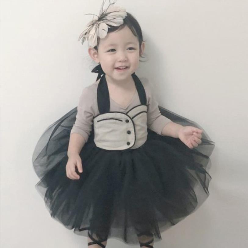 UK Kids Girls Baby  Cotton Bow Tutu Dresses Stripe Long Sleeve Party Lace Dress