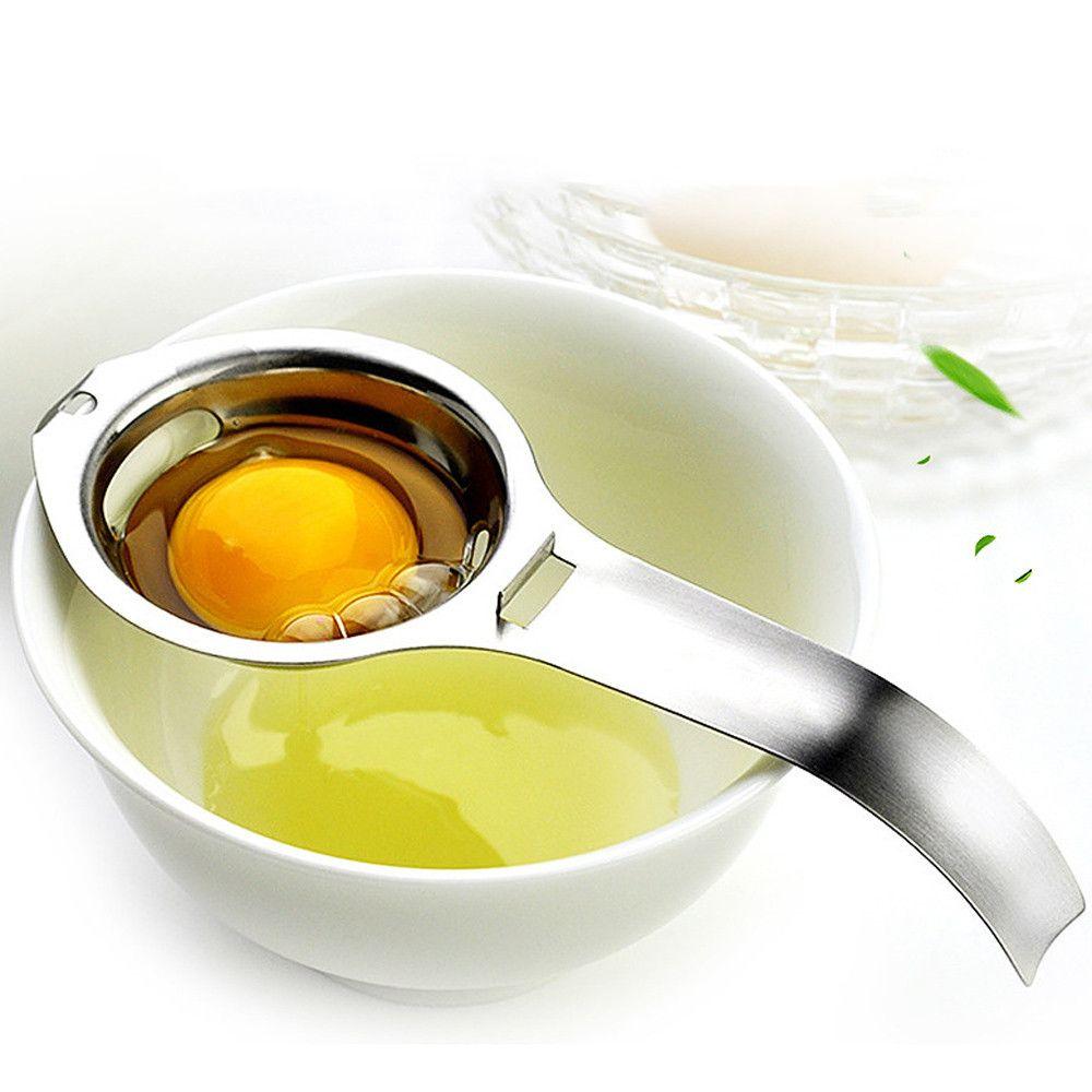 Acciaio inossidabile tuorlo d'uovo separatore bianco Cucina strumento gadget da cucina Argento keukenhulpjes uova utensili da cucina CoCer huevos