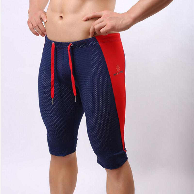 Men Fashion Tights Fittness Shorts Compression Mens Clothes Breathable Super High Elastic Wicking Quick Dry Bodybuilding Shorts Y19050501