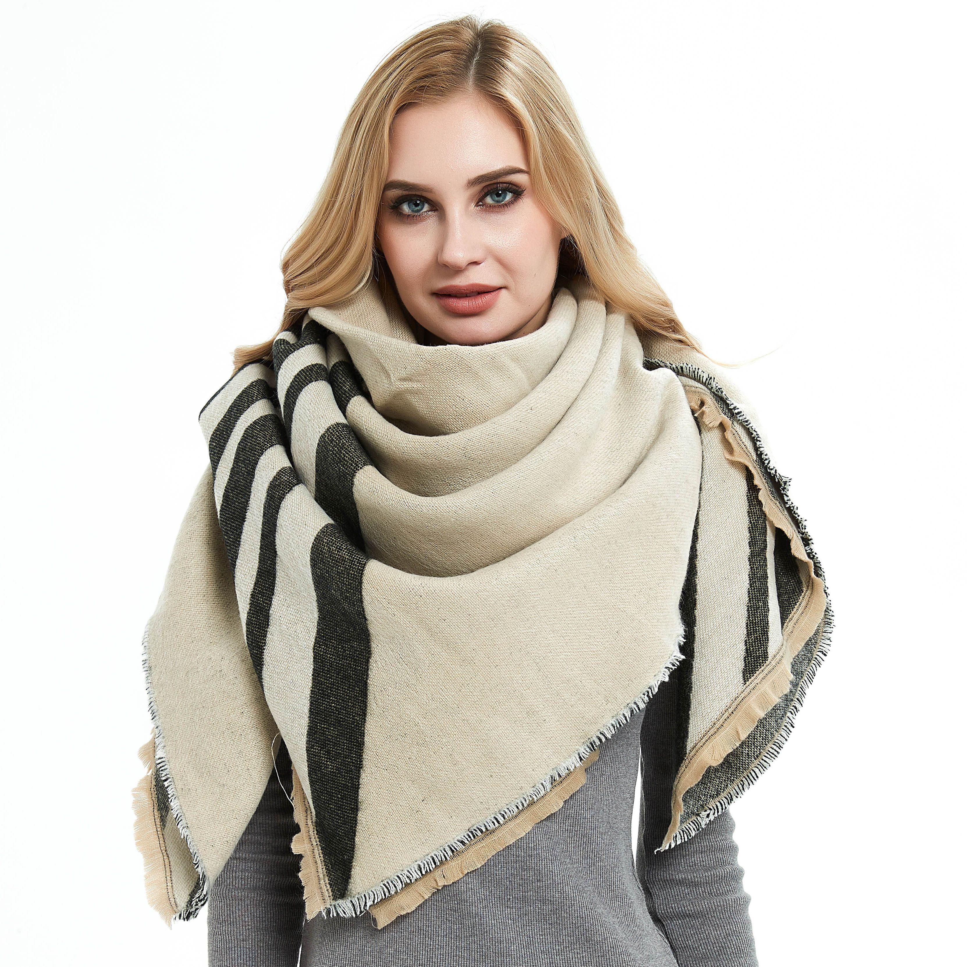 Girls Ladies Leopard Zebra Scarf Winter Soft Thick Warm Scarves