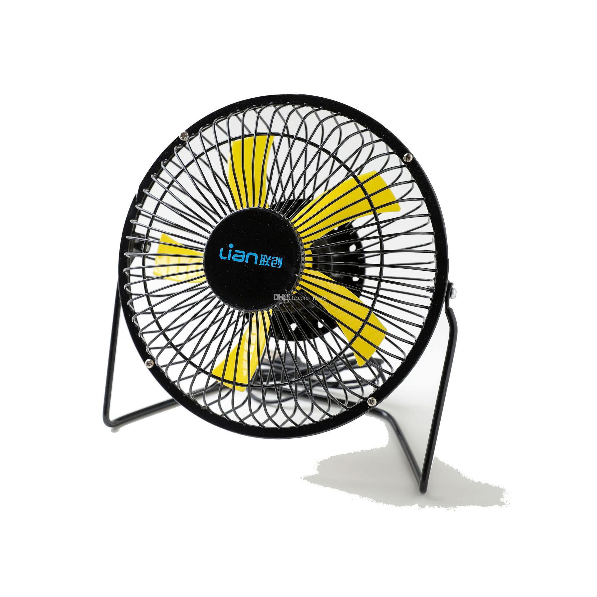 Portable Mini USB Fan 6 Inch Metal Powerful Cooling Fan Desk Fan Air Circulator Quiet Operation for Home Office