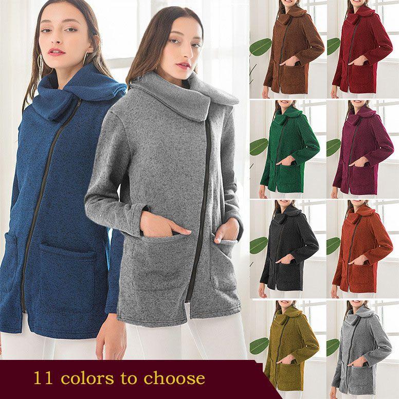 Женские толстовки Женские кофты пальто плюс флис свитер женщин весной и осенью сторона молния пальто