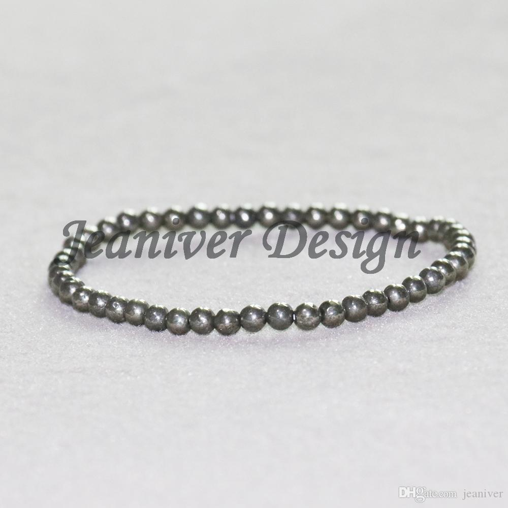 Jeaniver 2019 Naturel Pyrite Bracelets Designer Yoga Pierre Bracelet De Mode Mini Gem Pierre Bracelet Drop Shipping