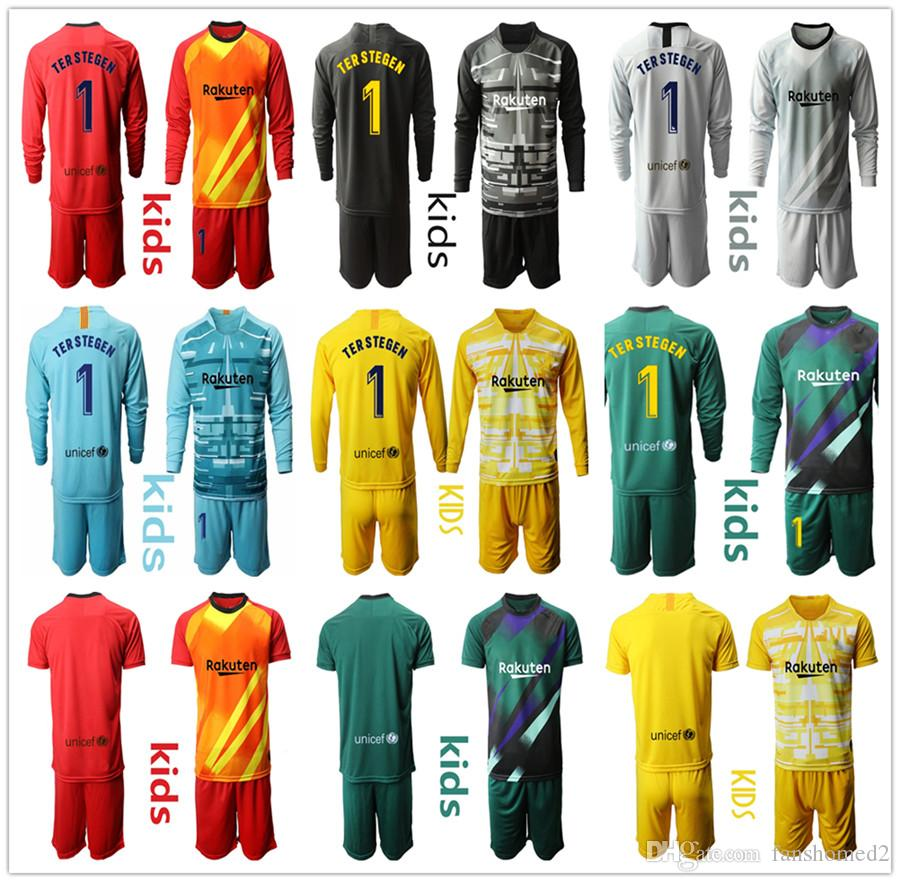 19-20 Custom Football Strips Kids Youth Soccer Suit Training Jersey Kits Outfits
