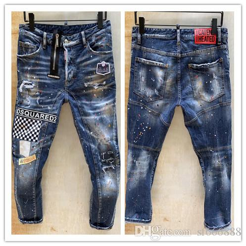 2020 nova marca de moda casual jeans europeus e americanos dos homens, lavagem de alta qualidade, moagem pura mão, otimização da qualidade LT891