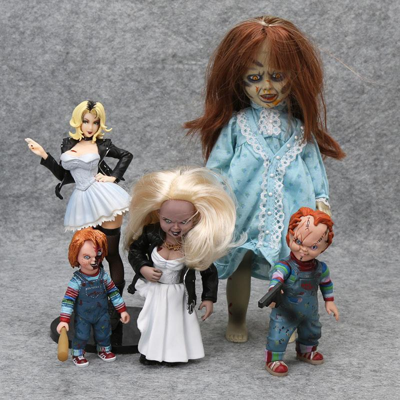 Neca Chucky Action Figurs Child's Play Good Guys Horror Doll Scary Bride Of Chucky Living Dead Dolls Pvc Toy Halloween Gift Y190604