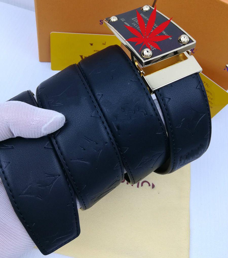 Herren Gürtel 2020 neuer Entwerfer-Männer s Gürtel Luxus Man Arbeiten Sie echtes Leder Cowskin-Gurt für Mann-Qualität