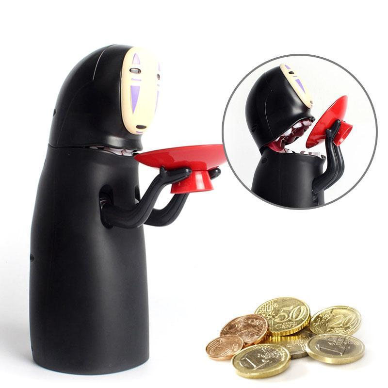 3PCS Electronic Faceless Man Money Box Ghost Figure Coin Cartoon No-face Piggy Bank Funny Faceless Man Ghost Figure Saving Box AIJILE