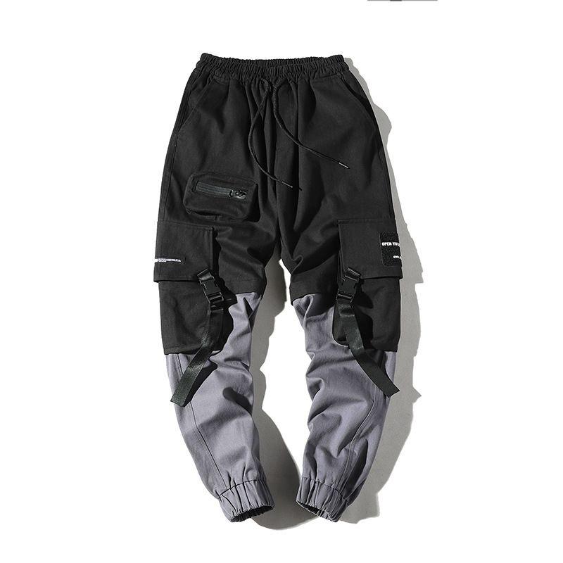 Para hombre Hip Hop Pantalones Lápiz Moda pantalones de carga Streetwear masculino tobillo longitud de los pantalones de las bragas tácticas