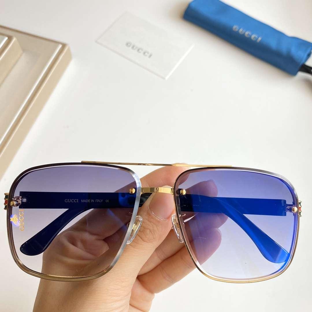 Metallo Mens occhiali da sole di marca occhiali da sole dell'uomo piccole api 0429S Occhiali da sole Moda UV400 7 colori di alta qualità con la scatola