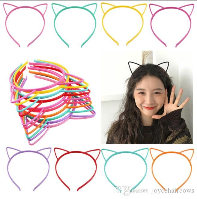 Ücretsiz nakliye 24pcs Unicorn Kedi Kulakları Bantlar bebek Kız Çocuk Kadınlar Plastik Taç hairbands Prenses Seksi Cadılar Bayramı Paskalya Aksesuarları Headw
