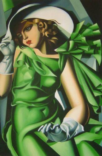 Tamara de Lempicka girl -7 Home Decor Handpainted &HD Print Oil Painting On Canvas Wall Art Canvas Pictures 191129