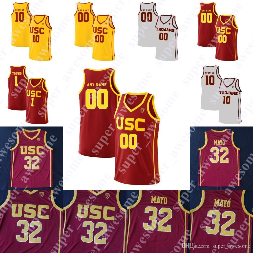 USC Trojans Basketball Jersey Onyeka Okongwu Nick Rakocevic Daniel Utomi Elias Weaver Isaías Mobley Ethan Anderson 32 Mayo 1 Nick Young